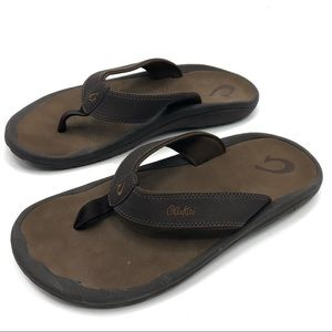 OLUKAI OHANA Men's Brown Sandals Size 13M